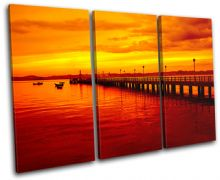 Pier Jetty Sunset Seascape - 13-0964(00B)-TR32-LO